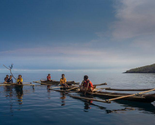 Kids in Canoes at Beangabang